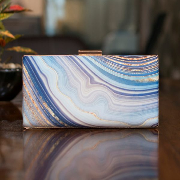 Beautiful Abstract Print Clutch - IL25pc