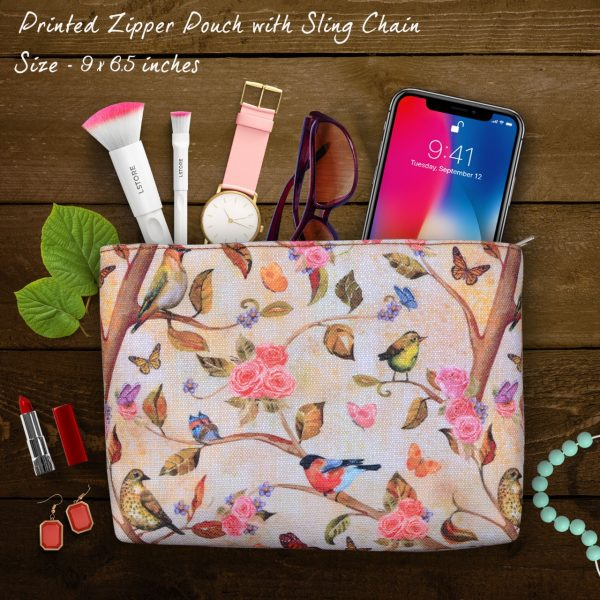 Floral Printed Women Pouch