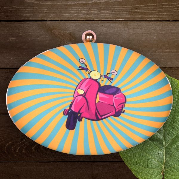 Scooter Printed Funky Clutch - IL43pc